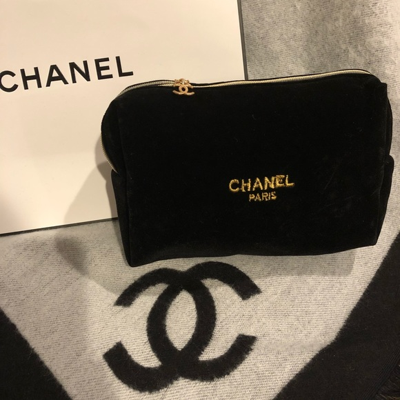 567d7da754ee CHANEL Bags | Authentic Nwot Black Velvet Makeup Bag | Poshmark